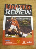 22/12/2001 Manchester United v Southampton  . Thanks for viewing our item, if th