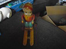 Vintage Tin J. Chein & Co. Wind Up Toy Skier