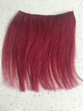 """6"""" Clip in Human Hair Extensions Straight Burgundy 1Pc 5"""" Wide"""