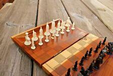 MINI TRAVEL vintage in legno Scacchiera Case & Board combinato Cove Haven USA