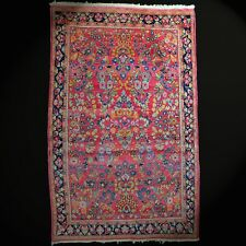 Viejo, Auténtico Saroouk Orient-Teppich Colores Naturales Anudada a Mano Lana