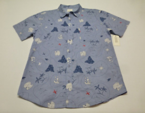 Walker St Refinery Mens Size XL Blue Tropical Slim Fit Button Front Shirt New
