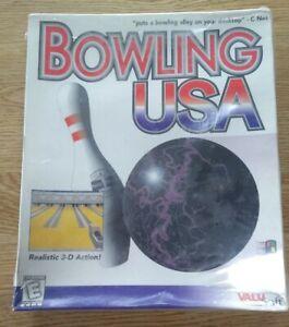BOWLING USA 3D TEN PIN 10 - PC CD WIN 3.1 BIG BOX - 1999 VALUSOFT NEW SEALED NOS
