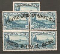 1938. DEFENSA DE MADRID EDIFIL Nº 789/90 NUEVOS ** LUJO