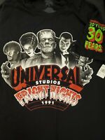 Universal's Halloween Horror Nights 30th Fright Nights Monsters Shirt NEW M