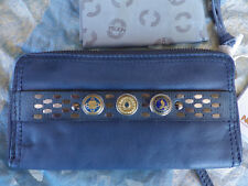 NOOSA AMSTERDAM wallet ladies leather blue takes 3 original chunks