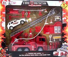 23PCS CITY FUOCO SOCCORSO AUTO FIRE sparare ACQUA Truck Car SEGNALETICA STRADALE Fire Dept giocattolo