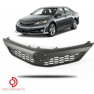 VRracing Mesh Grill Assembly Front Upper Grille Compatible for Toyota Camry SE XSE Sedan 4-Door 2012-2014