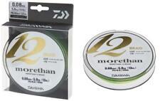 Daiwa Morethan 12 Braid 0,08mm 5,8kg 135m Lime Green Geflochtene Schnur