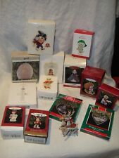 Lot of 14 Hallmark Christmas Ornaments 1989-2011 Keepsake Collector's Barbie