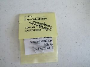 Tomar HO Scale Hayes Wheel Stops 4 pack Cast metal #H-803 Bob The Train Guy