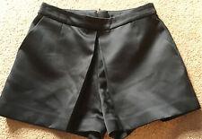 New Look Size 8 Black Satin Like Hot Pants Shorts