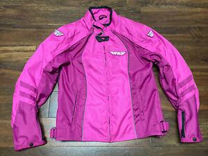 Fly racing georgia II pink ladies 5791 XL jacket coat motorcycle Armored $150
