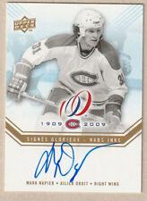 2008-09 Montreal Canadiens Centennial Habs Inks Mark Napier Auto