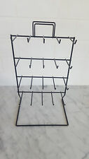 20 prong 4 Tier wire retail POS DISPLAY RACK black jewelry keychain holder
