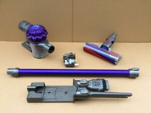 DYSON V6 ANIMAL HANDHELD WITH FLUFFY HEAD, WALL MOUNT & CHARGER   - WORKING