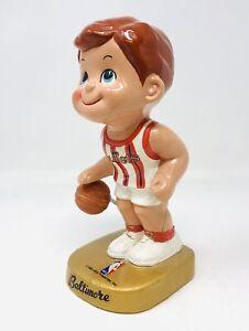RARE 1969 NBA BALTIMORE BULLETS Lil Dribbler Nodder Figurine Figure Bobblehead