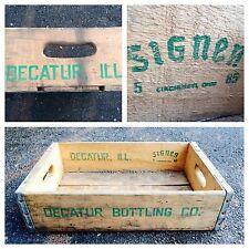 Rare Vintage 1985 Decatur Bottling Co Wood Soda Crate Case
