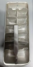 Old Vintage Aluminum Ice Cube Tray 2 piece metal