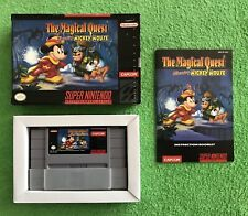 Super Nintendo SNES The Magical Quest Starring Mickey Mouse Game Complete CIB