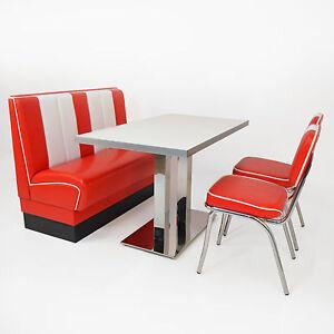 American Dinerbank Viber Set rot-weiß, Fifties-Sixties Retro