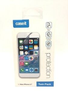 4 x Caseit iPhone 8 7 6S 6 Clear Transparent Screen Protector Guard Overlay