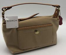 COACH *NWT* - Brand New- Pouch Top Handle Handbag Khaki (#87)