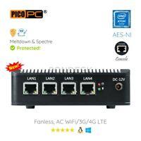 Intel Atom® E3845 4 LAN 3G/4G 4G RAM/64G SSD Fanless Firewall AES-NI Networking