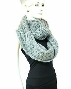 Zac's Alter Ego® Warm Knitted Lurex & Sequin Womens Loop Scarf / Snood / Cowl