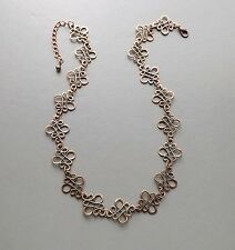 Celtic copper pattern necklace .. statement knot work elegant glam jewellery