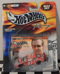 Ford Taurus Hot Wheels Racing NASCAR Race Day Kurt Busch Sharpie Trading Card