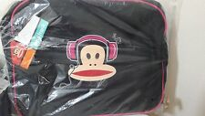 PAUL FRANK JULIUS MONKEY HEADPHONES MESSENGER AIRLINER SHOULDER BAG BLACK