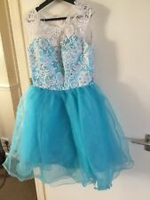 Grace Karin Blue And White Laced Dress Size 14 New With Tags