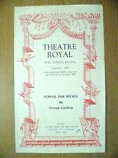Theatre Royal Programme 1949- SCHOOL FOR RIVALS by N Ginsbury