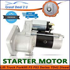 Starter Motor for Nissan Forklift Lift Trucks F3 TD42 Diesel 1989-ON 23300-34T00