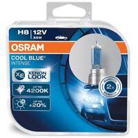 H8 OSRAM Cool Blue Intense 35W 12V Lampadine Fari Alogeni 64212CBI-HCB Twin