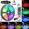 "Waterproof 5M 16.4ft LED Strip Light RGB ""5050"" SMD Light Tape Power + Remote"