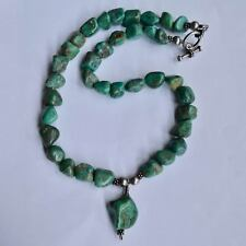 *Vintage GORGEOUS Turquoise Nugget Choker Necklace Silver Toggle Clasp
