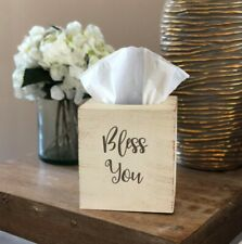 Distressed Bless You Tissue Box Cover  ~ Kleenex ~ Home Decor ~ Choose Colors