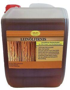 Leinölfirnis 100% 5L Holzschutz, natürlicher Holzschutz, Holzlasur,Holzfarbe