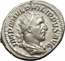 Philip I 'the Arab' Silver Ancient Coin Equality Fair trade Symmetry  i52144