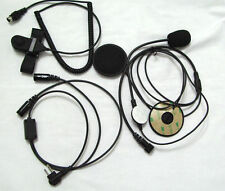 Motorcycle Half Helmet Headset W/ BOOM MIC for Motorola Two Way Radio 2 PIN
