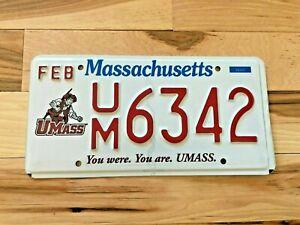 Massachusetts UMass License Plate