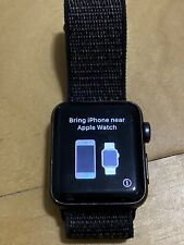 Apple Watch Series 2 GPS 38mm Aluminum Case, Space Gray, Black Band, Great Cond.