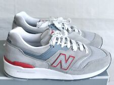 New Balance M997CGR Made in USA Grey Suede Red Leather Sneakers Size 6 NEW