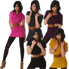 Kurzarm Damen-Pullover & -Strickware mit Rollkragen ohne Muster