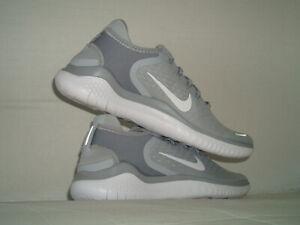 Nike Free RN 2018 Men's Size 10-12.5-14-15 (942836 003) Wolf Grey/White