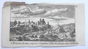 Stampa antica Old print Acquaforte Vesperino by C.  Laurentio  P. Malatesta 1685