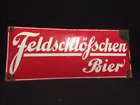Feldschlösschen Cerveza - Cartel Esmaltado 33 X 79,5CM - Di.Alrededor De 1930