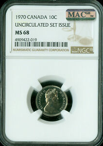 1998 CANADA TEST 10 CENTS NGC MAC MS-67 PQ 2nd FINEST GRADE pop-1 SPOTLESS .